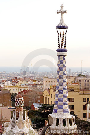 Park Guell in Barcelona (Spain)