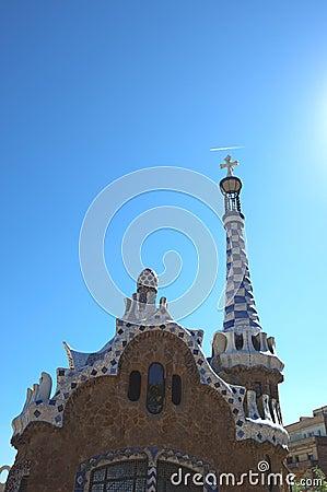 Park Guell detail, Barcelona, Spain