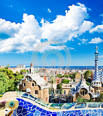 Free Park Guell In Barcelona Royalty Free Stock Photography - 34345397
