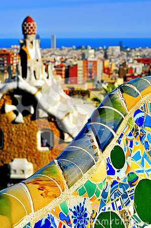 Free Park Guell In Barcelona, Spain Royalty Free Stock Image - 38329126