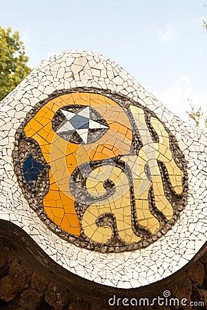 Park Guell Mosaic Sign