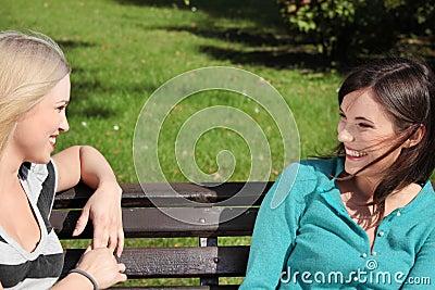 Park kobieta dwa
