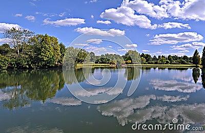 Park Lake Clouds