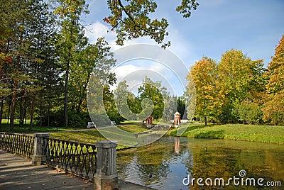 Park landscape, Pushkin, RF