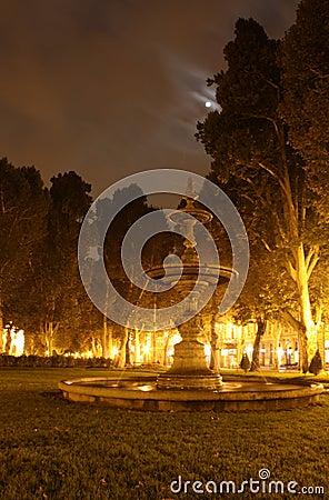 Park at midnight
