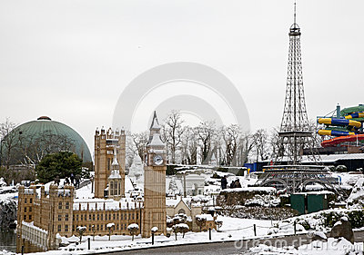 Park Mini-Europe in Brussel Editorial Stock Image