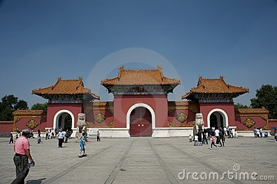Park of north imperial tomb of Shenyang Editorial Photography