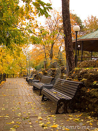 Free Park Of Rest In The Autumn Royalty Free Stock Photos - 1364618