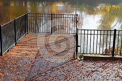 Park pond pier
