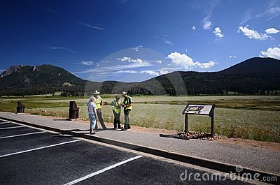 Park ranger at the Rocky Mountain National Park Editorial Photo