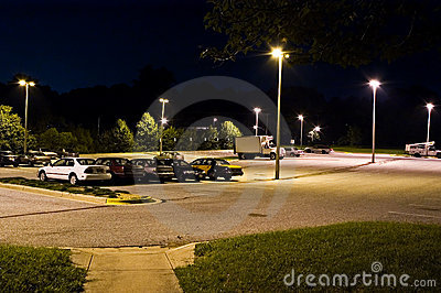 Park and Ride Lot at Night - 2