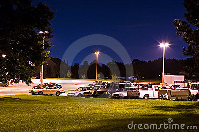 Park and Ride Lot at Night