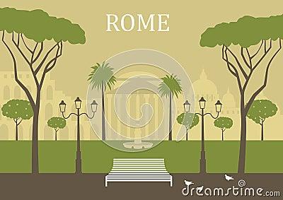 Park in Rome.