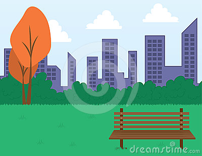Park Scene and Buildings