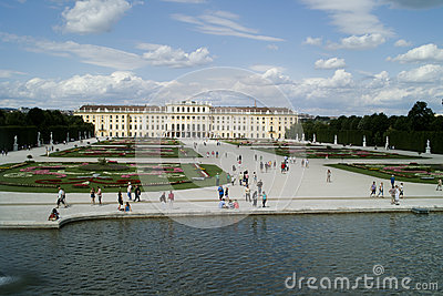 Park in Schonbrunn Palace Editorial Photography