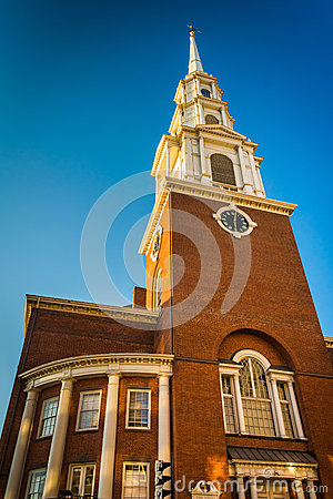 Free Park Street Church In Boston, Massachusetts. Stock Photo - 47621240