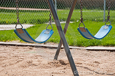 Park Swings sitting idle