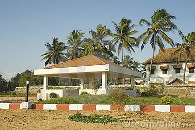 Park view at Beach in Kerala, India