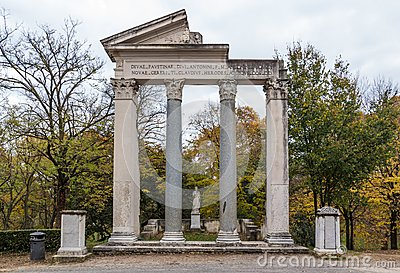 Park of villa Borghese in Rome, Italy Stock Photo