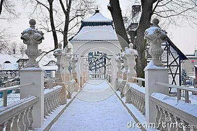Park in winter.