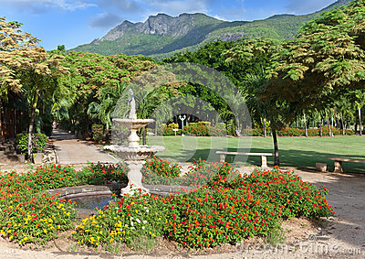 Park zone Le Domaine Les Pailles. Mauritius