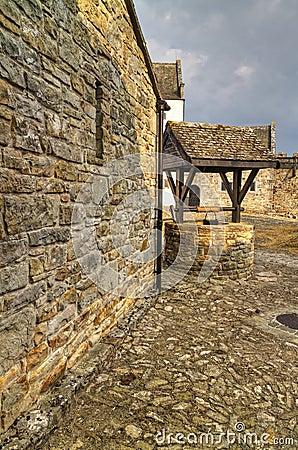 Parkes castle courtyard