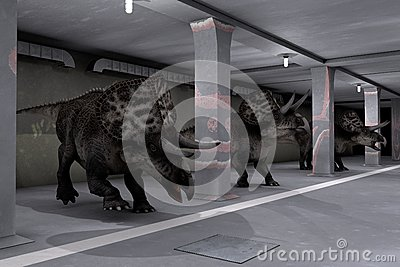 Parking of dinosaurs