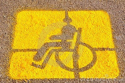 Parking for the disable sign
