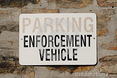 Parking for Enforcement Vehicle Sign