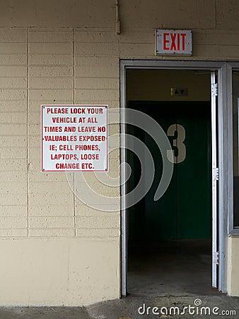 Parking Garage Exit