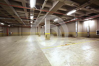 Parking garage interior