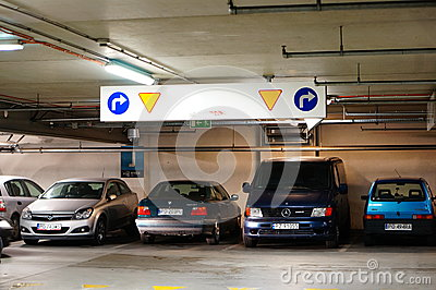Parking garage Editorial Stock Image