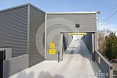 Parking garage ramp