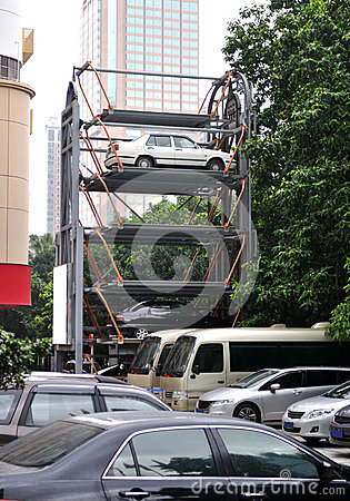 Parking Lift Stock Image - Image: 24992601