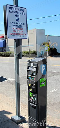 Parking Meter, Virginia Beach Virginia Editorial Image