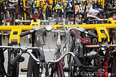Parking place for bicycles