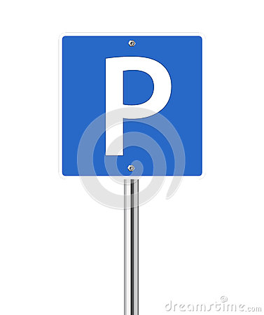 Parking place sign