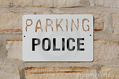 Parking for Police Sign