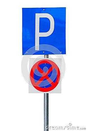 Parking road sign