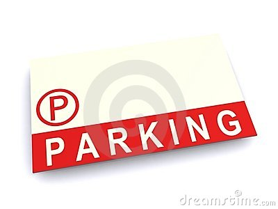 Parking sign with copy space