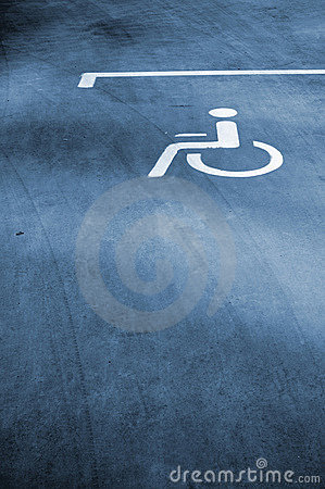 Parking sign for disable people