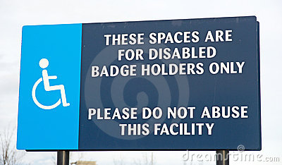 Parking spaces and request about abuse.