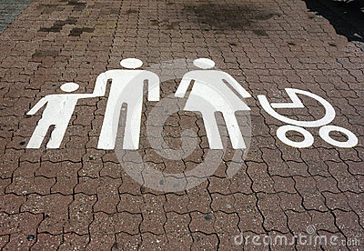 Parking spot for families