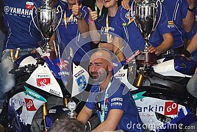 ParkinGo Yamaha team Supersport champion Editorial Photo