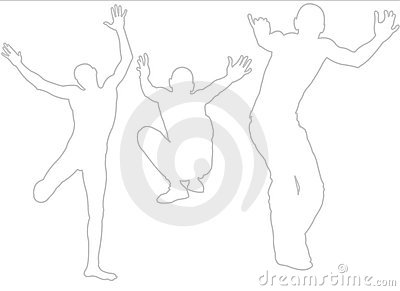 Parkour: Active Boy Silhouette