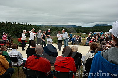 Parks Canada Shed Party Dance Editorial Stock Image