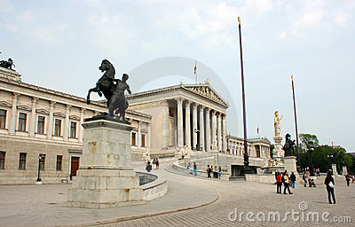 Parliament of Austria Editorial Stock Image