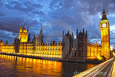 Parliament and Big Ben at night