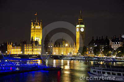 The Parliament, Big Ben and the River Thames