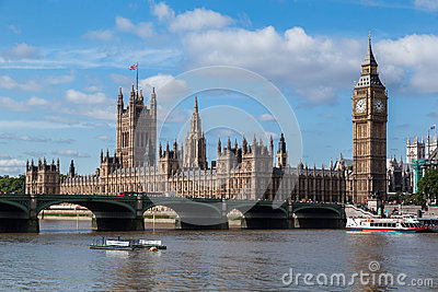Parliament Building and Big Ben London England Editorial Stock Image